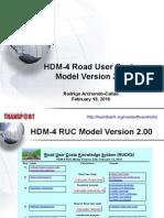 Road User Costs Model 20100218