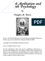 Buddhist Meditation and Depth Psychology