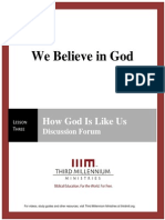 We Believe In God - Lesson 3 - Forum Transcript