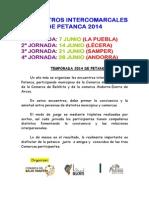 ENCUENTROS INTERCOMARCALES DE PETANCA 2014