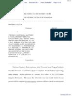 Davis v. CASPERSON et al - Document No. 3