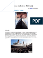 ANALYSE DU FILM TITANIC