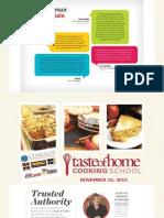 taste of home cooking school sales package