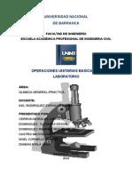 operaciones unitarias basicas de laboratorio