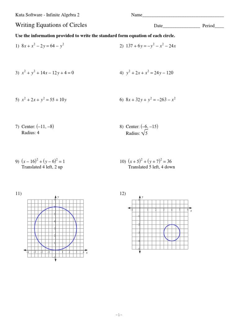 Equations of Circles | Circle | Equations