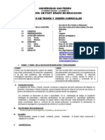 Silabo Teoria Curricular Huaraz 2015