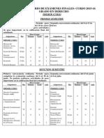 Exámenes Finales Grado en Derecho