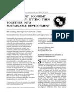 Environment, Economy