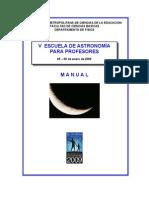 MANUAL v Escuela de Astronomia 2009