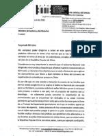 Carta al Min Justicia solicitando sentar las bases para una firma de repatriación permanente con China y Colombia.