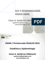 Clase ENAM Epidemiologia y Estadistica