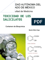 Toxicidad de Los Salicilatos