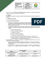 Itv-Ac-po-007 Proc Para La Operacion y Acreditacion de Las Residencias Profesionales