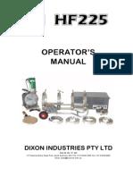 Dixon HF225 Op Manual