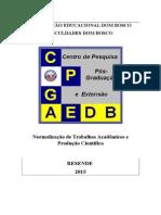 Normalização de Trabalhos Acadêmicos e Produção Cientifica 2015