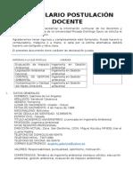 FORMULARIO POSTULACION DOCENTE