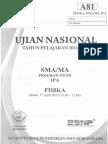 Pembahasan UN Fisika SMA 2012 Paket A81