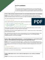 8-A few common C++ problems