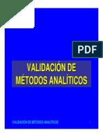 Validación de Metodos Analíticos