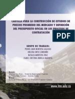 Cartilla Practica Para La Construccion de Estudios de Precios Promedio Del Mercado