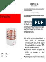 Notice Deshydrateur Domoclip DOM202