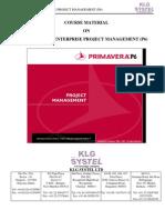Primavera P6 PM Course Material