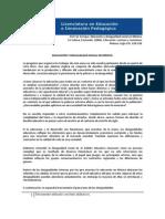 Educación y Desigualdad Social en México