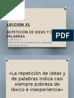 Repeticion Ideas y Palabras