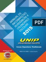 Manual Do Estudante e Calendário UNIP - 2015