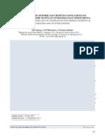 Dokumen 2748 Volume 12 Nomor 2 September 2011 Studi Hazard Seismik Dan Hubungannya Dengan Intensitas Seismik Di Pulau Sumatera Dan Sekitarnya