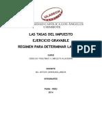 Tributario II - trabajo de impuesto a la renta