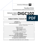 DIGC102 Digital Research Methods Subject Outline Feb 24 2010