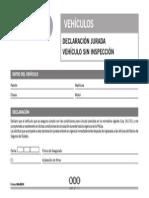 3066 Declaracion Jurada - Vehiculo Sin Inspeccion