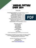 Rocky Horror Cast Sheet