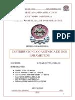 Hidrologia - Distribucion Logaritmica de Dos Parametros