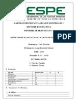 Modulo de elasticidad y Coeficiente de Poisson