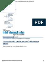 Peluang Usaha Bisnis Busana Muslim Dan Jilbab _ Info Peluang Usaha
