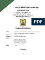 Evaluación de los componentes del rendimiento en el cultivo del cacao en la comunidad de Trampolín – Pumahuasi.