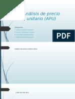 Análisis de Precio Unitario APU