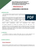 PRACTICA Nº 13:GRUPO SANGUINEO Y FACTOR Rh