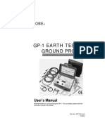 GP 1 Earth Tester Ground Probe Manual