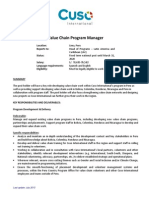 Posting Lac Value Chain Program Manager July 2015