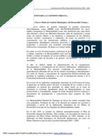 IV.5 Lineamientos Para La Gestion Urbana