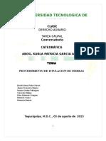 Agrario III Parcial Titulacion de Tierras