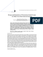 Design and Simulation of Generation Control Loops for Multi Area Interconnected System