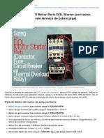 Electrical-Engineering-portal.com-Dimensionamiento El Motor Parts DOL Starter Contactor Fusible Disyuntor y Rel Trmico de Sobrecarga
