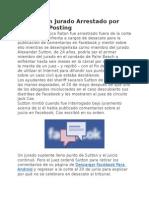 Boca Raton Jurado Arrestado Por Facebook Posting