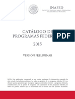 Programas Federales 2015 0
