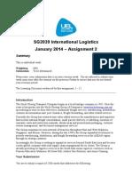 SG2039 Int Logist Assign2 Jan2014 Rev1-0