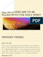 12 All believers are to be filled with the Holy Spirit